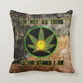 I'M NOT AS THINK AS YOU STONED I AM THROW PILLOW