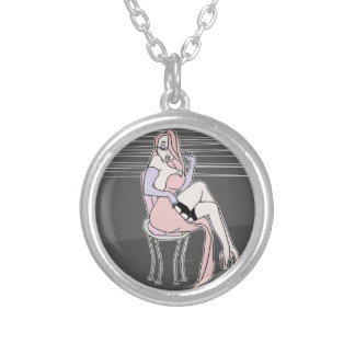 Im not bad i was just drawn that way handdrawing silver plated necklace