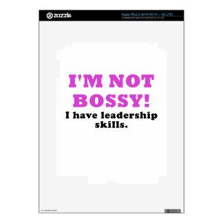 Im Not Bossy I Have Leadership Skills iPad 3 Skin