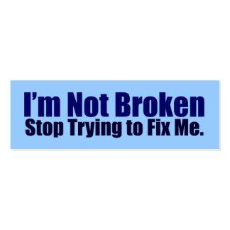 I'm Not Broken Activist Cards