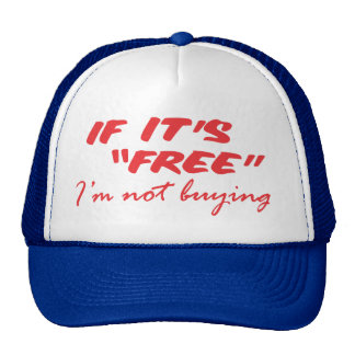 i'm not buying red trucker hat