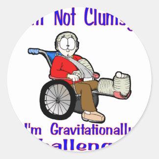I'm Not Clumsy Classic Round Sticker