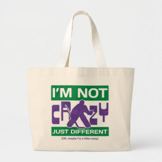 I'm Not Crazy, Funny Hockey Goalie Grocery Bag