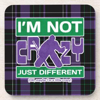 I'm Not Crazy, Hockey Goalie Cork Coasters