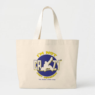 I'm Not Crazy, Hockey Goalie Gifts & Merchandise Large Tote Bag