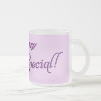 I'm not crazy, I'm special Frosted Glass Coffee Mug