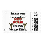 I'm Not Crazy Postage Stamps