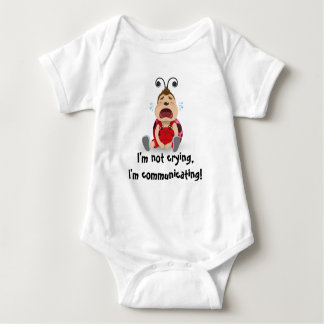 I'm not crying, I'm communicating baby bodysuit