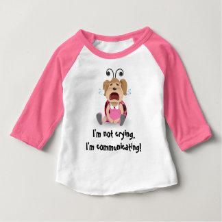 I'm not crying, I'm communicating pink t-shirt