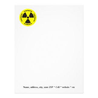 I'm Not Dead Yet!  Cancer Radiation Humor Button Letterhead