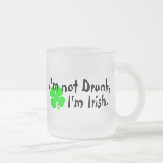 Im Not Drunk Im Irish 4 Leaf Clover Mug