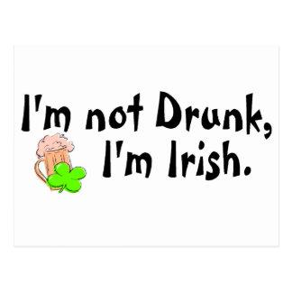 Im Not Drunk Im Irish 5 Postcard