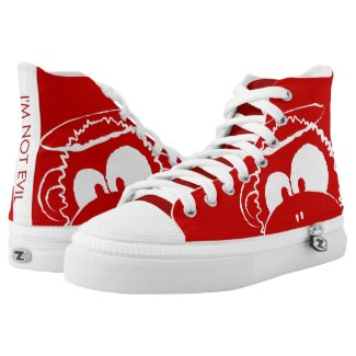 I'm Not Evil - Red High-Top Sneakers