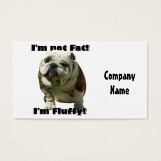 I'm not fat bulldog business card