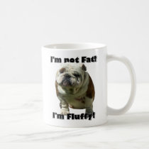 I'm not fat Bulldog mug
