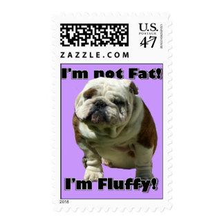 I'm not fat Bulldog Postage Stamp