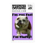 I'm not fat Bulldog Stamps