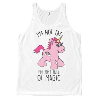I'm Not Fat - Cute Unicorn Vest Top