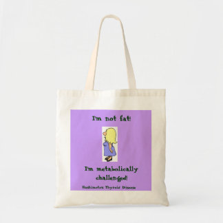 I'm not Fat Grocery Tote Canvas Bags