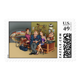 I'm Not Fat I'm A Sprinter Postage Stamps