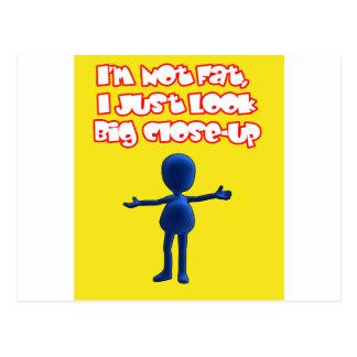 I'm Not Fat Postcard