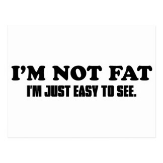 I'm Not Fat Post Cards