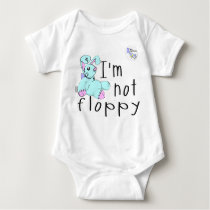 I'm Not Floppy! Down's Syndrome Awareness Baby Bodysuit