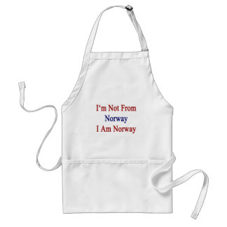 I'm Not From Norway I Am Norway Adult Apron