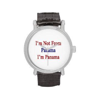I'm Not From Panama I'm Panama Wrist Watches