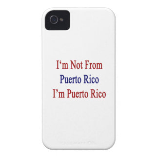 I'm not From Puerto Rico I'm Puerto Rico iPhone 4 Covers