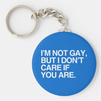 I'M NOT GAY BUT I DON'T CARE IF YOU ARE KEY CHAINS