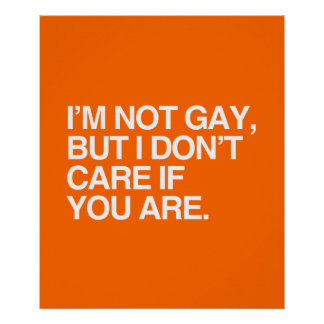 I'M NOT GAY BUT I DON'T CARE IF YOU ARE PRINT