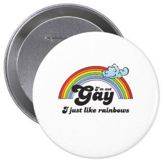 Im not Gay dark 4 Inch Round Button