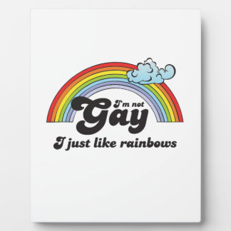 Im not Gay dark Photo Plaque