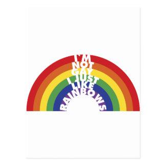 I'm Not Gay, I Just Like Rainbows Postcard