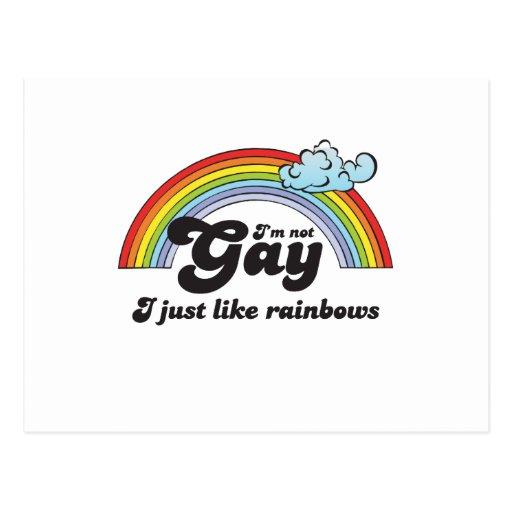 I'M NOT GAY POSTCARD