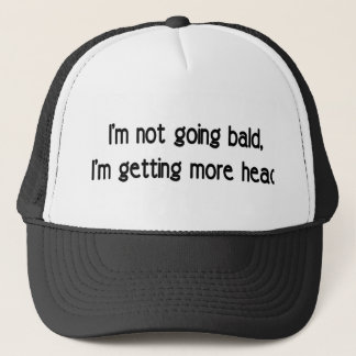 I'm not going bald trucker hat