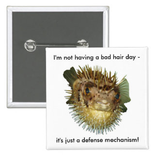 I'm not having a bad hair day - button