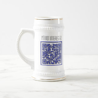 I'm Not Interested with QR Code Beer Stein
