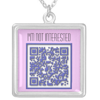 I'm Not Interested with QR Code Personalized Necklace