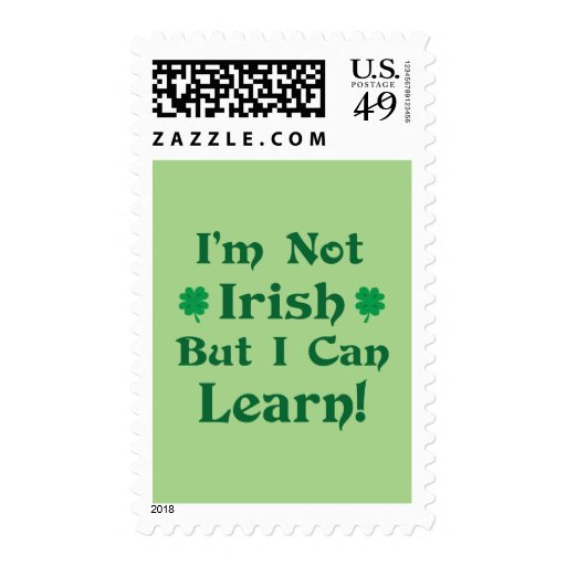 I'm Not Irish But I Can Learn Stamp