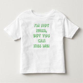 I'm not Irish, but you can kiss me toddler tshirt