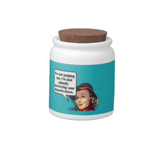 I'm Not Judging You... Retro Woman Candy Jars