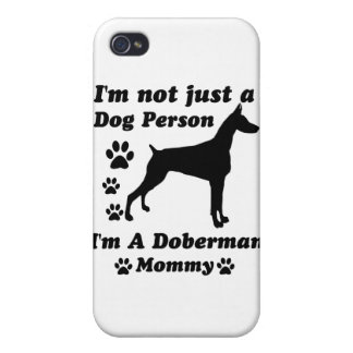 I'm Not Just a Dog Person; I'm A Doberman mommy iPhone 4/4S Case