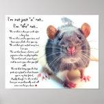 """I'm Not Just """"a"""" Rat Poster"""