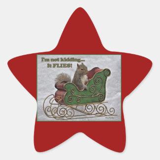 I'm not kiding... It FLIES! Star Sticker
