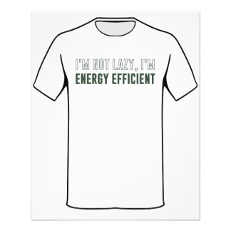 I'm Not Lazy I'm Energy Efficient Flyer