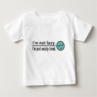 I'm not lazy. I'm just easily tired. Blue emoticon Baby T-Shirt