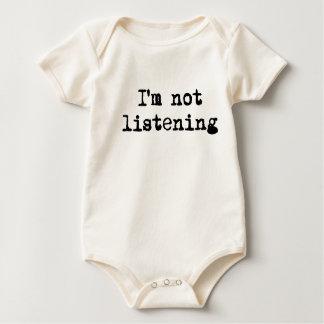 I'm not listening baby bodysuit