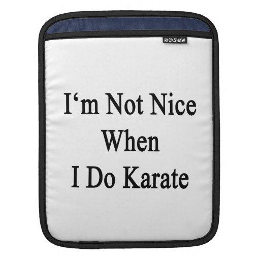I'm Not Nice When I Do Karate iPad Sleeves